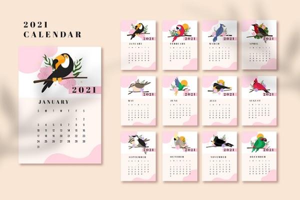 ᐈ Calendario editable 2021 en illustrator [ GRATIS ] 🤖