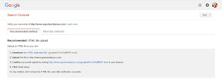 Verification URL Google Webmaster