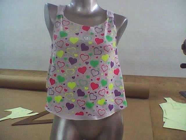 blusa estampada amplia para niñas