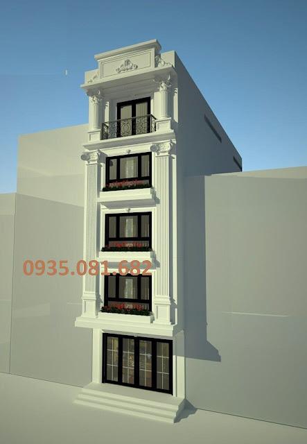 mẫu nhà 5 tầng tân cổ điển