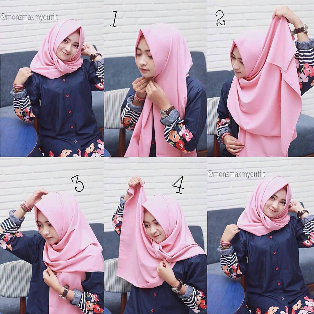Inilah Kreasi Tutorial Hijab Simple yang Paling Banyak