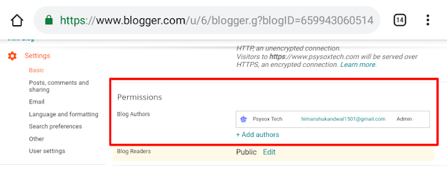 How to change author in blog