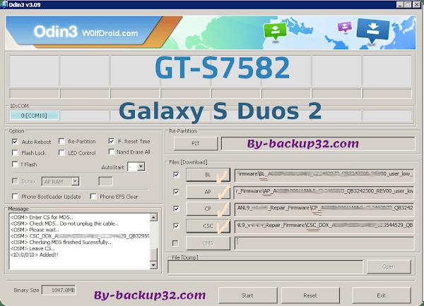 سوفت وير هاتف Galaxy S Duos 2 موديل GT-S7582 روم الاصلاح 4 ملفات تحميل مباشر