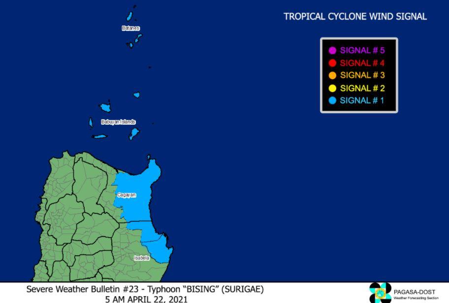 Typhoon 'Bising' signal
