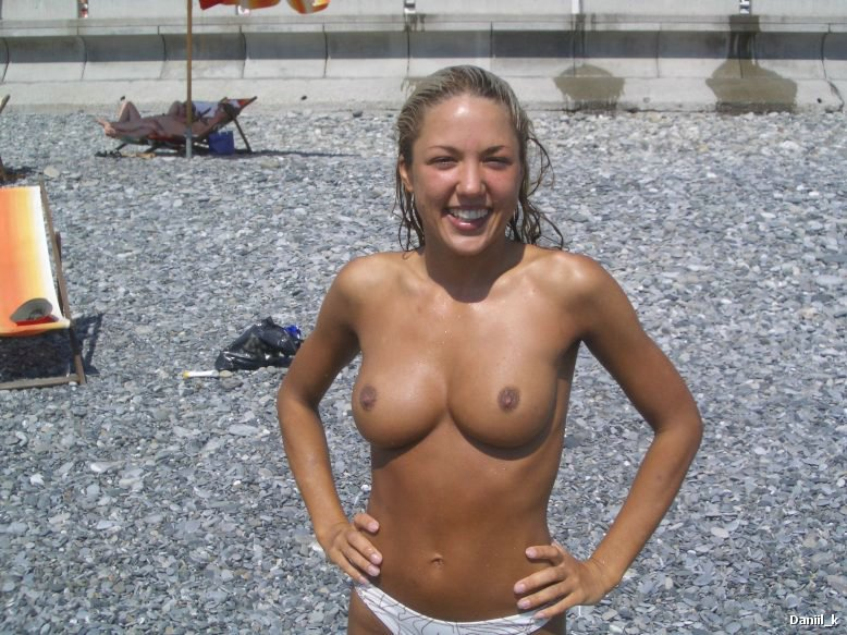 Beach, Nudism, tits, blonde,