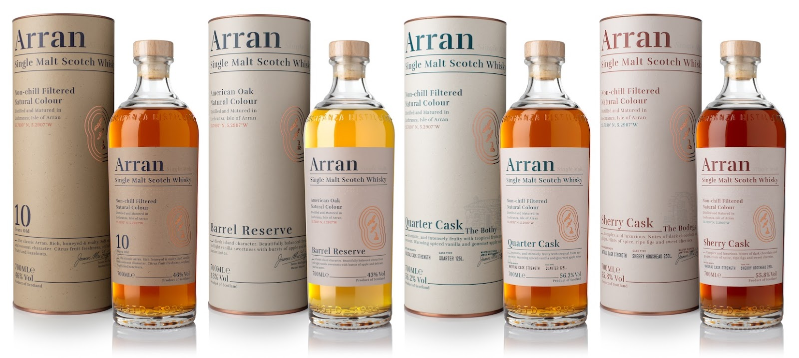ARRAN UNVEILS NEW LOOK PACKAGING AND EXPRESSIONS