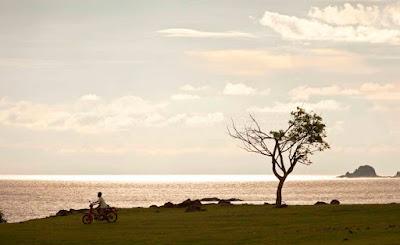 Pristine white sand beaches in Kuta Lombok