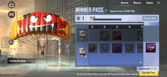 PUBG Lite Winner Pass Season 18 released check out all rewards here