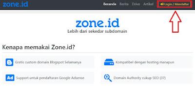 Cara Mendapatkan Domain Gratis .zone.id