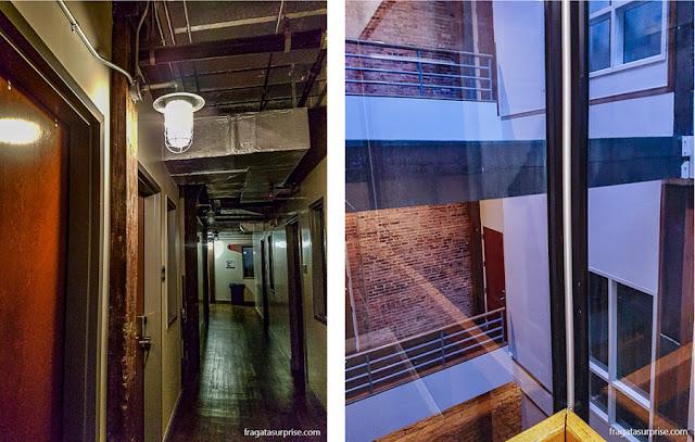 Detalhes do interior do Nashville Dpwntown Hostel