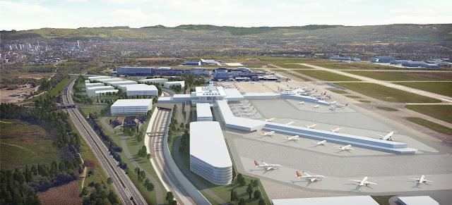 Perspective 3D de faisabilité d'un aéroport