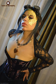 Sexy steampunk makeup tip. Use adhesive unisex lace masks by lacedandwaisted. strapless and adheres to skin for a sexy, romantic, gothic, victorian look.