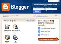 cara mendaftar blog di blogger