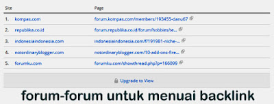 Info Blog, Forum Backlink
