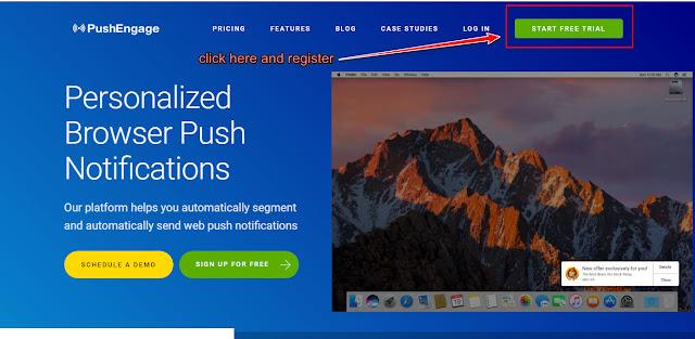 Web push notification, Push Notification, PushEngage,Blogger push notification