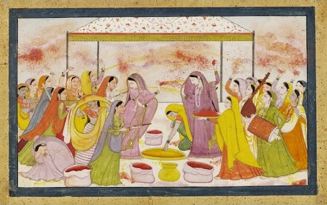 radha krishana playing holi images