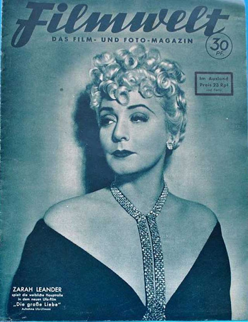 Zarah Leander on the cover of Filmwelt Magazine, 21 January 1942 worldwartwo.filminspector.com