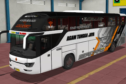 Koleksi 13 Livery Agam Tungga Jaya Bus Srikandi SHD Ori By Blahbloh
