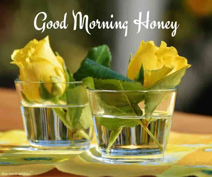 good morning honey with flowers