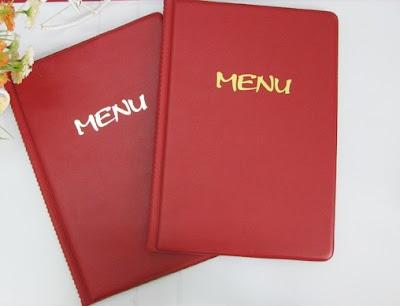 Bán quyển menu bìa da a4 có sẵn tại TPCM