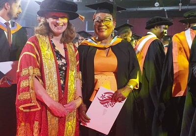 Lordina Mahama grabs Masters of Laws degree