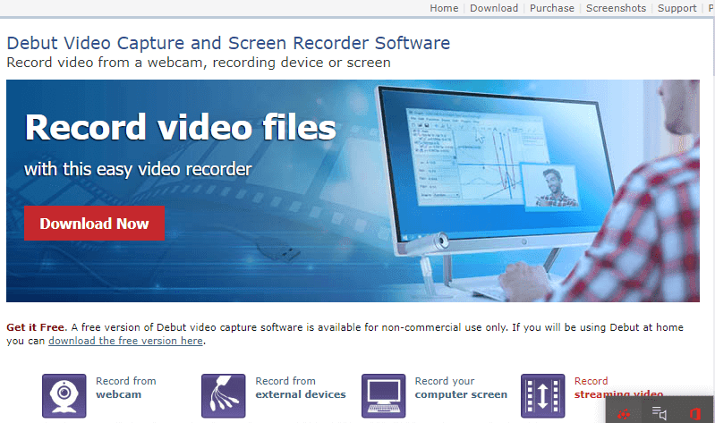 Debut-Video-capture-tool