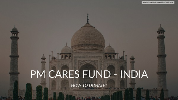 how to donate to PM cares fund