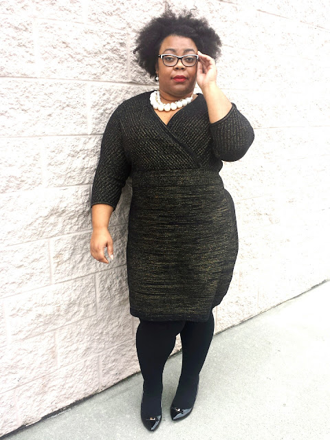 plus size sweater dress, lane bryant, plus size tights