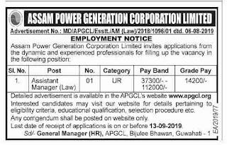APGCL Recruitment 2019