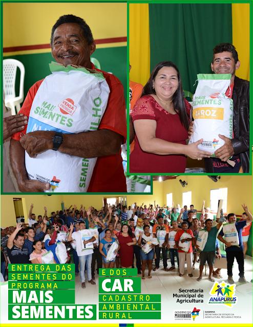 Secretaria de Agricultura de Anapurus dá início a entrega de 5 toneladas de sementes de Milho e Arroz