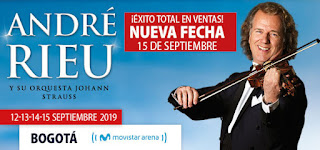 Concierto de André Rieu en Bogotá 15SEP
