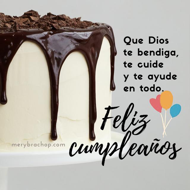 mensaje corto de cumpleaños tarjeta cristiana de bendiciones