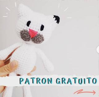 PATRON GRATIS GATO AMIGURUMI 44509