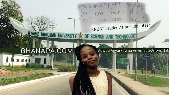 What actually pushed KNUST student to commit suicide