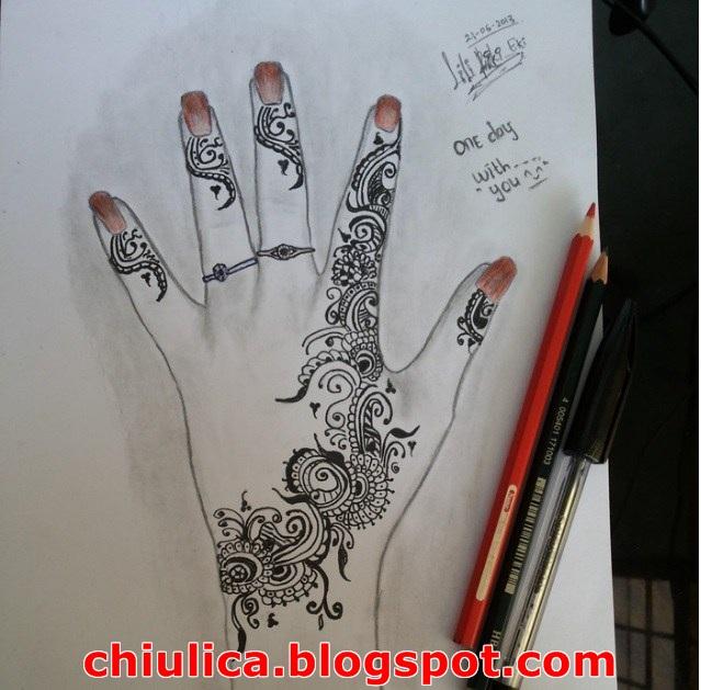 Henna Art Telapak Tangan Simple Dan Mudah Terbaru 2017 Contoh