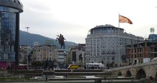 Plaza Macedonia desde el Barrio Turco.