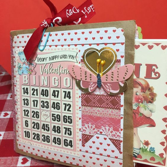 Priscilla Circelli-Gibbs' paper bag Valentine's Day journal