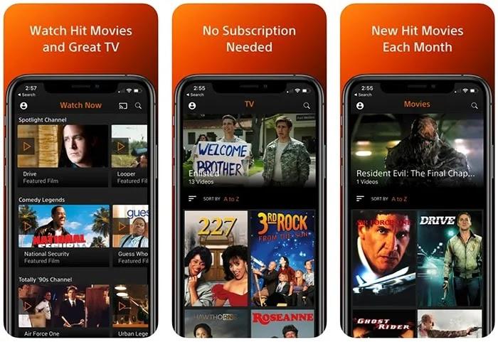 تطبيقات الأفلام المجانية Iphone Crackle