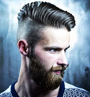Foto potongan rambut pria side apart with beard
