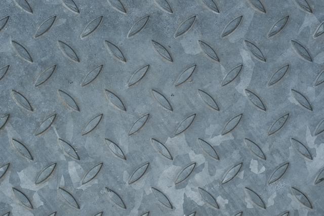 Galvanised metal floor plate texture