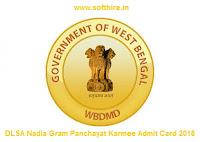 DLSA Nadia Gram Panchayat Karmee Admit Card