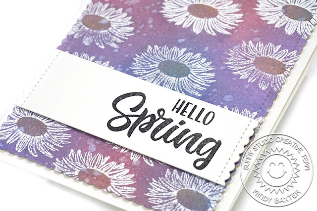 Sunny Studio Stamps: Cheerful Daisies Frilly Frame Dies Spring Themed Card and Video Tutorial by Mindy Baxter