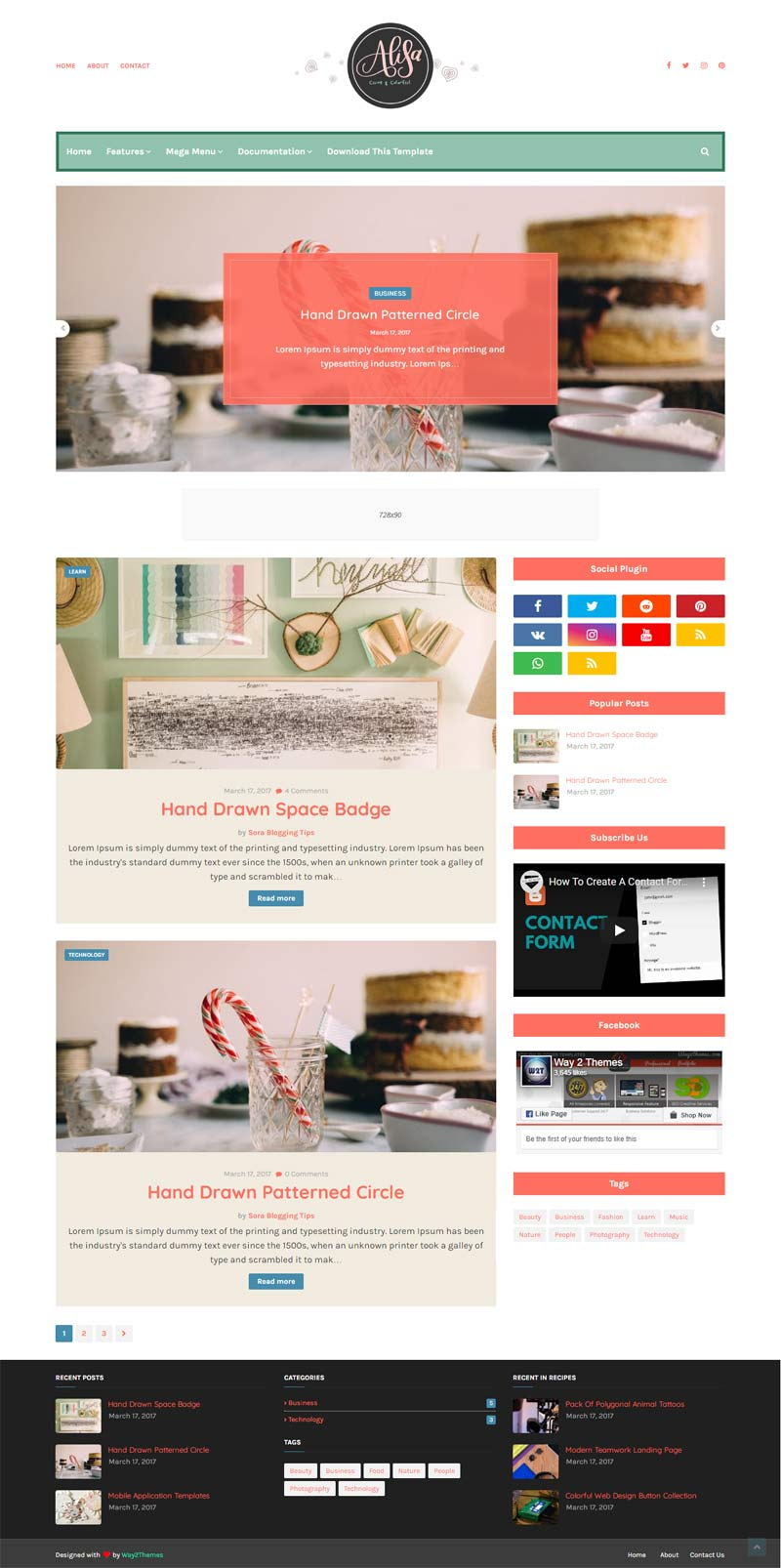Alisa Blogger Template Without Footer Credit