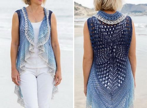Circular Vest Crochet Pattern, details 1