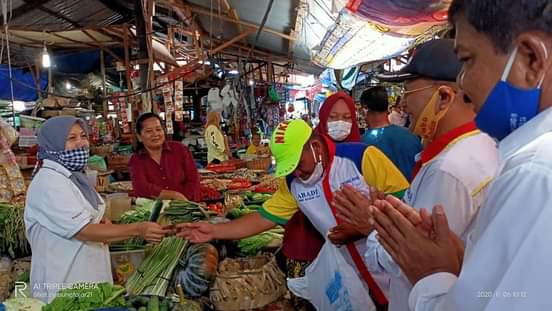 Kunjungi Pasar Inpres Sibolga, Paslon ABADI ; Akan Menata Pasar Menjadi Tempat Aman dan Nyaman