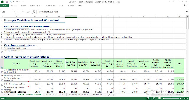 Cash flow forecasting template excel - ENGINEERING MANAGEMENT