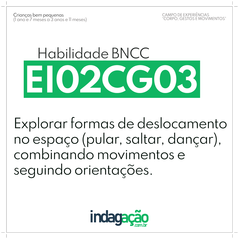 Habilidade EI02CG03 BNCC