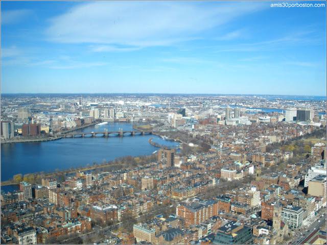 Vista Aérea de Boston desde el Observatorio del Prudential