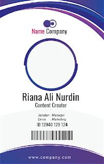 Format ID Card Karyawan Microsoft Word