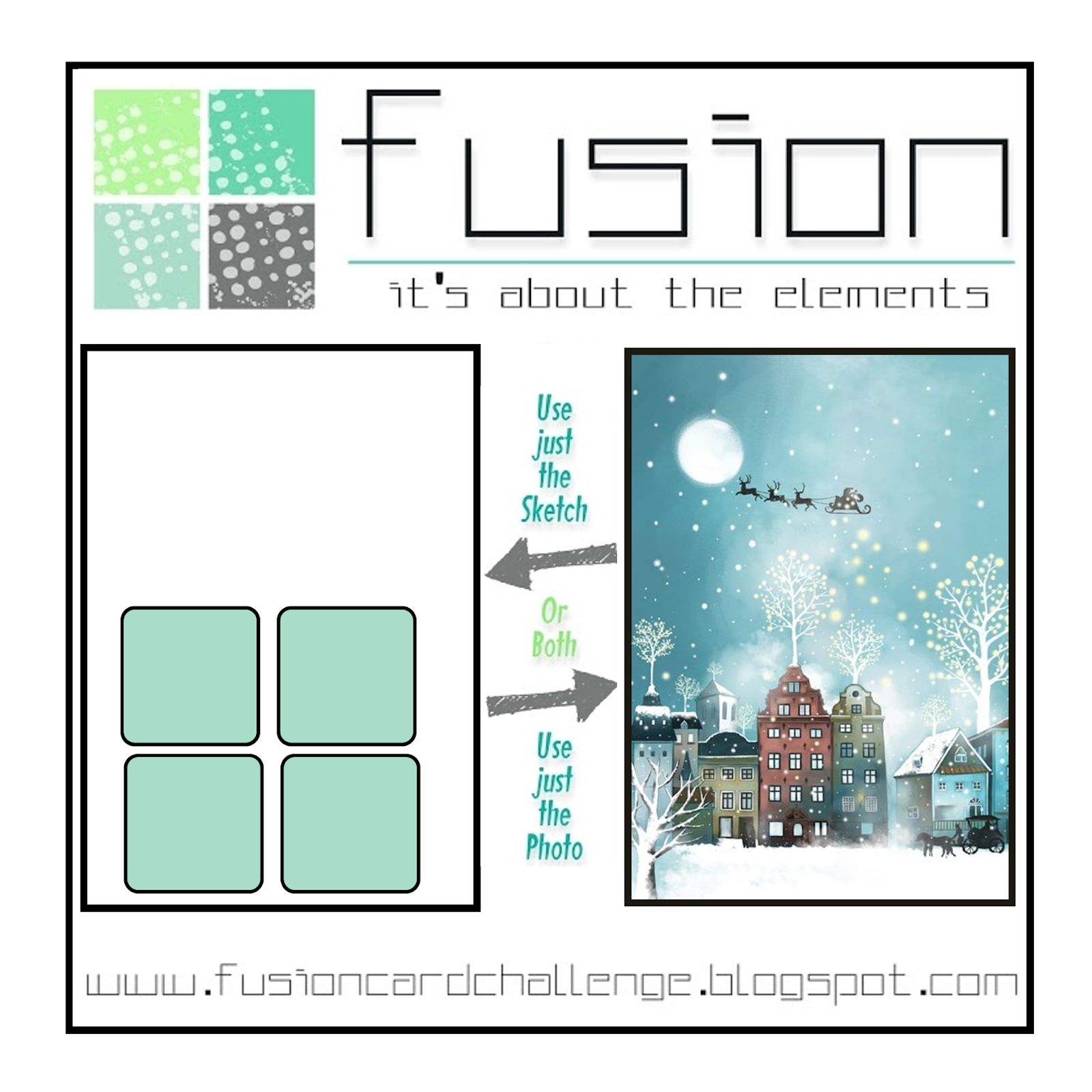 Fusion Card Challenge: FUSION - Christmas Eve Ride
